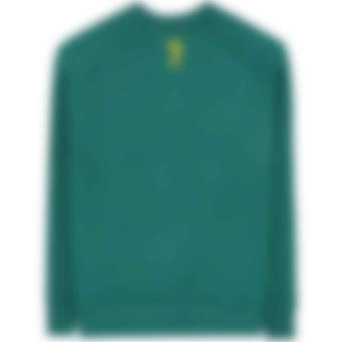 Billionaire Boys Club - Embroidered Logo Crew Pullover Sweater - Marine Green