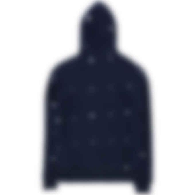 Billionaire Boys Club - Heart & Mind Monogram Embroidered Zip Hoodie - Navy
