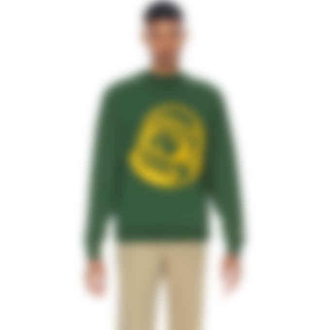 Billionaire Boys Club - Chainstitch Astro Logo Crewneck Pullover Sweater - Dark Green