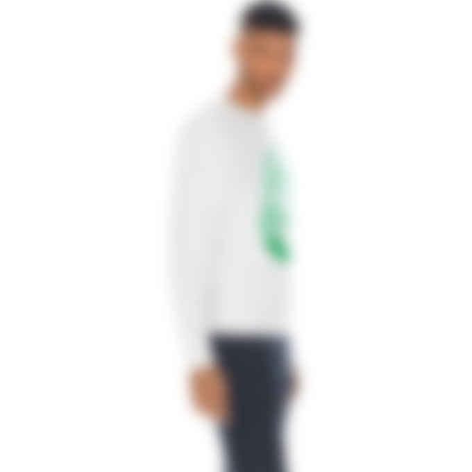 Billionaire Boys Club - Chainstitch Astro Logo Crewneck Pullover Sweater - White