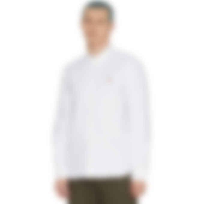 Maison Kitsuné - Fox Head Embroidery Classic Oxford Shirt - White