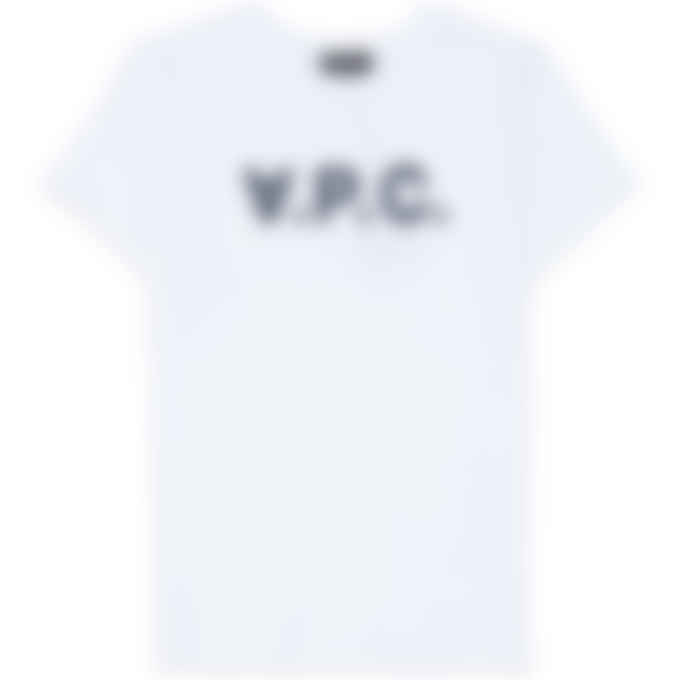 A.P.C. - White VPC T-Shirt - Dark Navy Blue