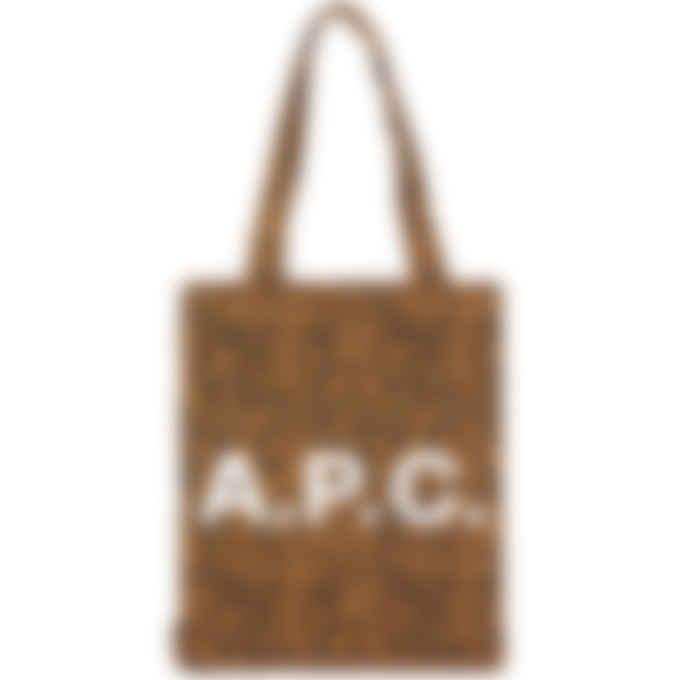 A.P.C. - Diane Leopard Print Tote Bag - Caramel