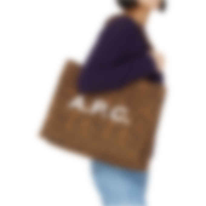 A.P.C. - Diane Leopard Print Shopping Bag - Caramel