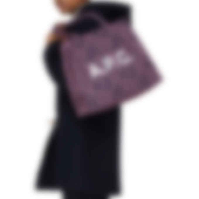 A.P.C. - Diane Leopard Print Shopping Bag - Dark Navy