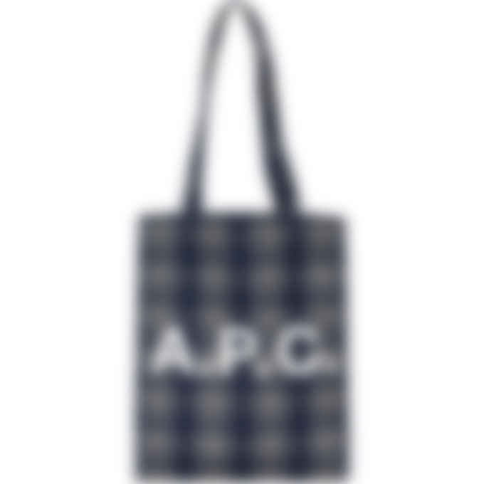 A.P.C. - Lou Check Tote Bag - Dark Navy