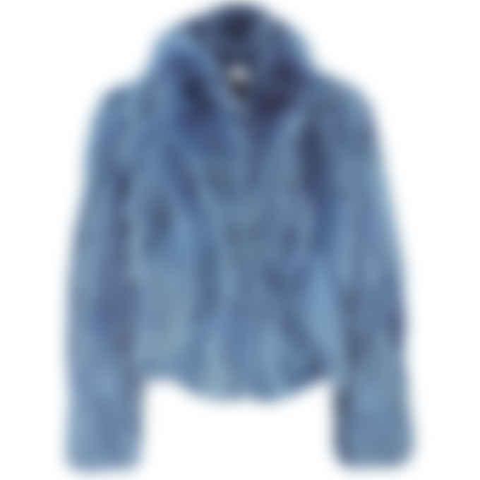 Bachour - Coyote Fur Coat - Royal Blue