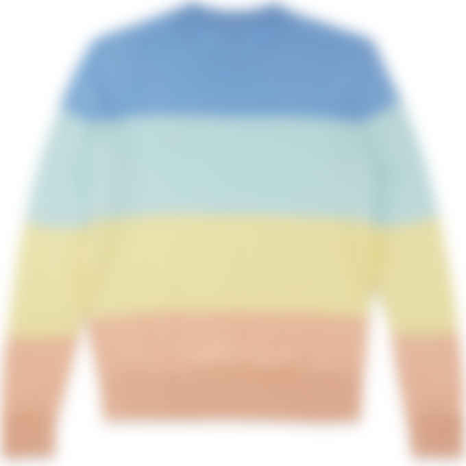 Maison Kitsuné - Rainbow Stripes Knit Pullover Sweater - Pastel Stripes