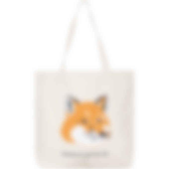 Maison Kitsuné - Fox Head Tote Bag - Ecru