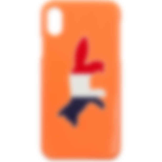 Maison Kitsuné - iPhone X Case Tricolor Fox  - Orange