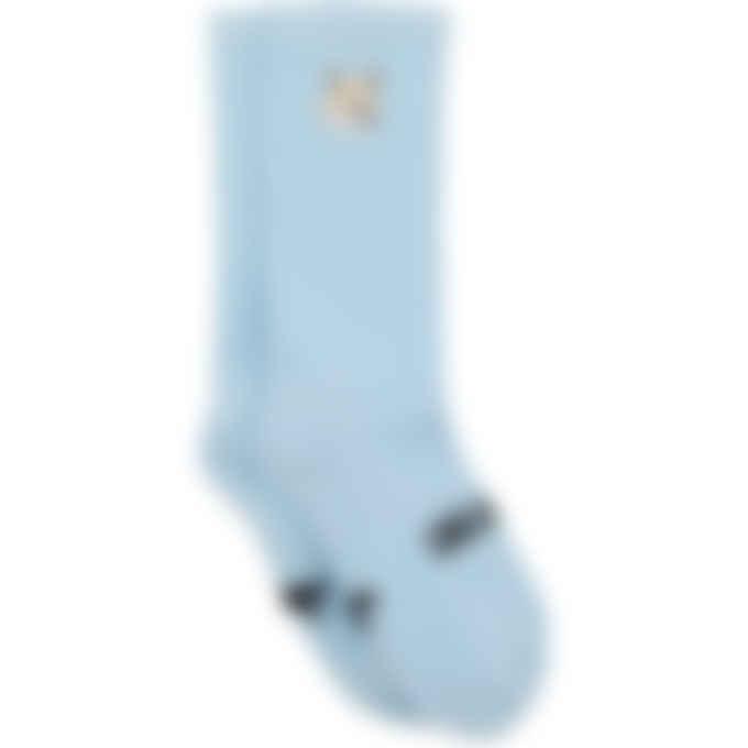 Maison Kitsuné - Pastel Fox Head Patch Socks - Sky