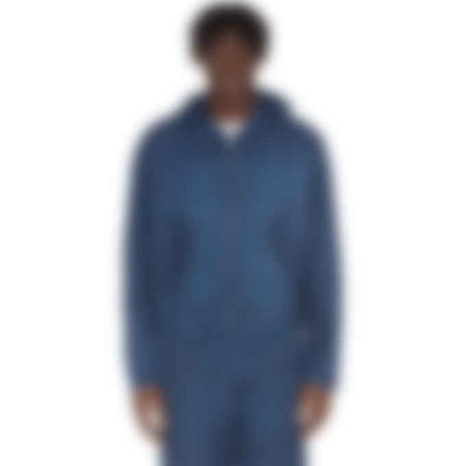 Kenzo - Embroidered Logo Hooded Jacket - Duck Blue
