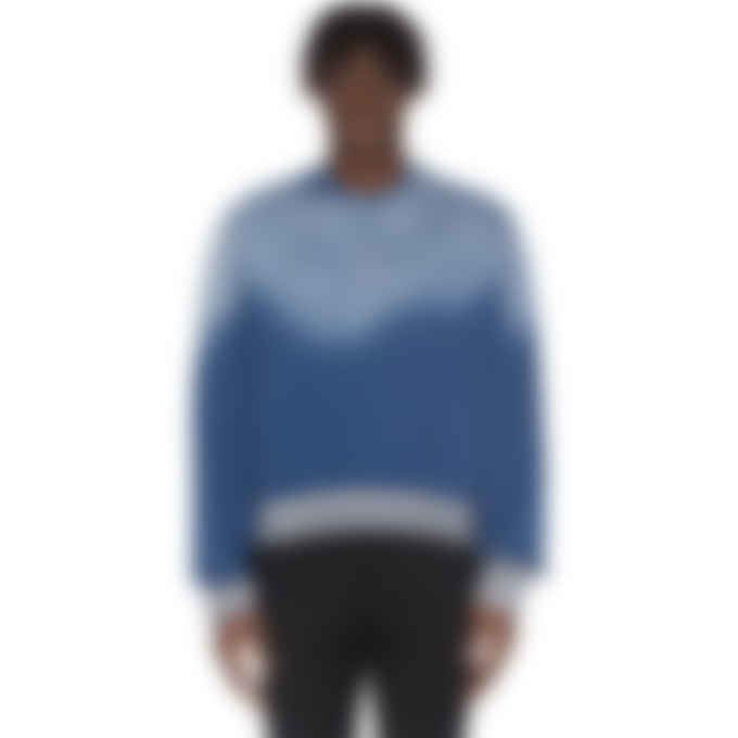 Kenzo - Logo Faded Pullover Sweater - Duck Blue
