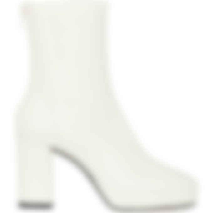 Kenzo - Glove High Heeled Mid Boots - Ecru