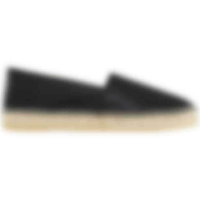 Kenzo - Tiger Leather Espadrilles - Black
