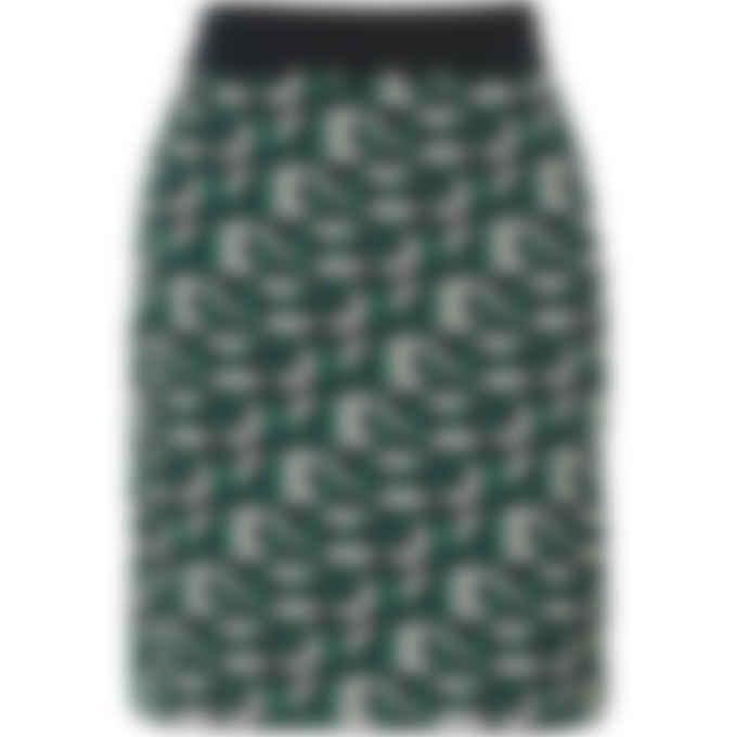 Kenzo - Kenzo Sport Monogram Logo Knit Skirt - Green