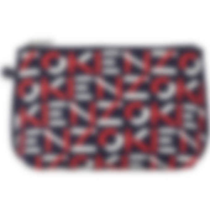 Kenzo - Skuba Monogram Logo Gusset Clutch - Medium Red