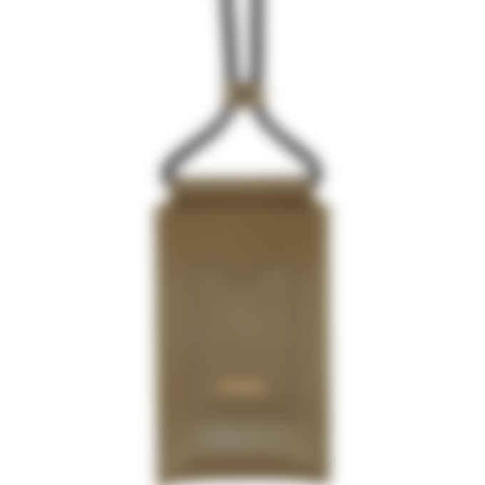 Kenzo - Cadet Logo Crossbody Leather Phone Holder - Khaki