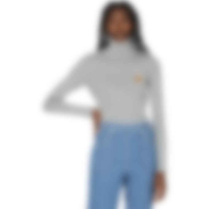 Kenzo - Tiger Crest Turtleneck Knit Pullover Sweater - Dove Grey