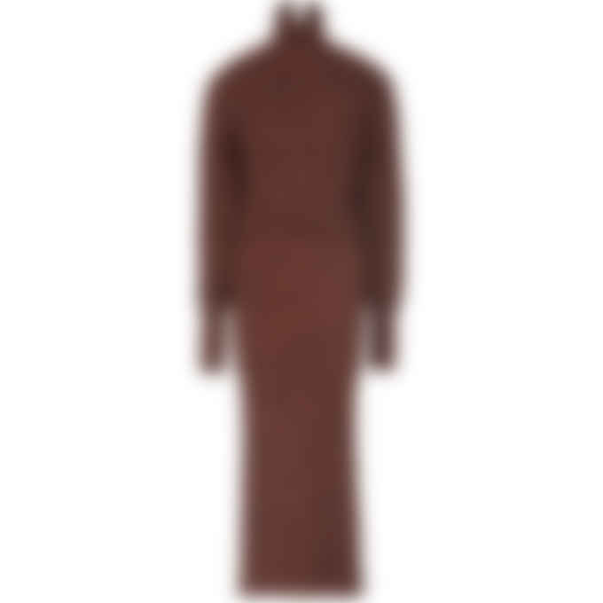 Kenzo - Textured Knit Long Dress - Bordeaux
