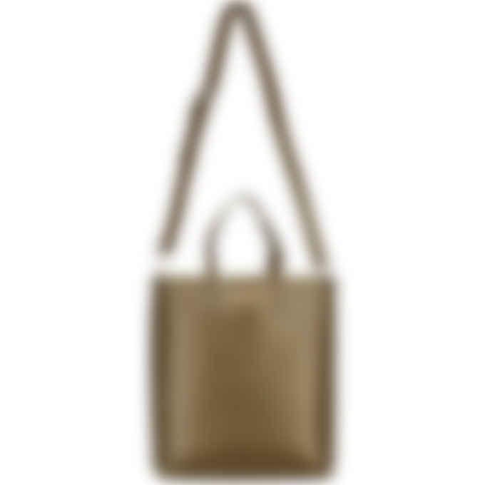 Kenzo - Cadet Logo Leather Small Tote Bag - Khaki