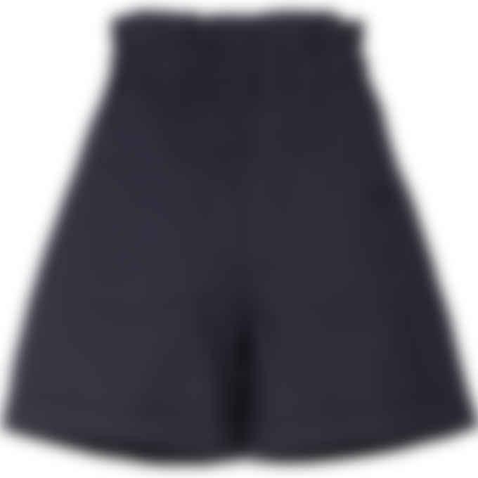 Kenzo - High Waisted Bermuda Shorts - Navy Blue
