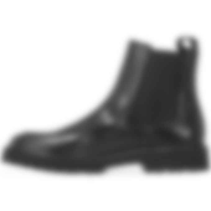 Kenzo - K-Mount Leather Chelsea Boots - Black