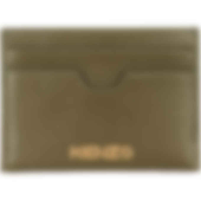 Kenzo - Cadet Logo Leather Card Holder - Khaki
