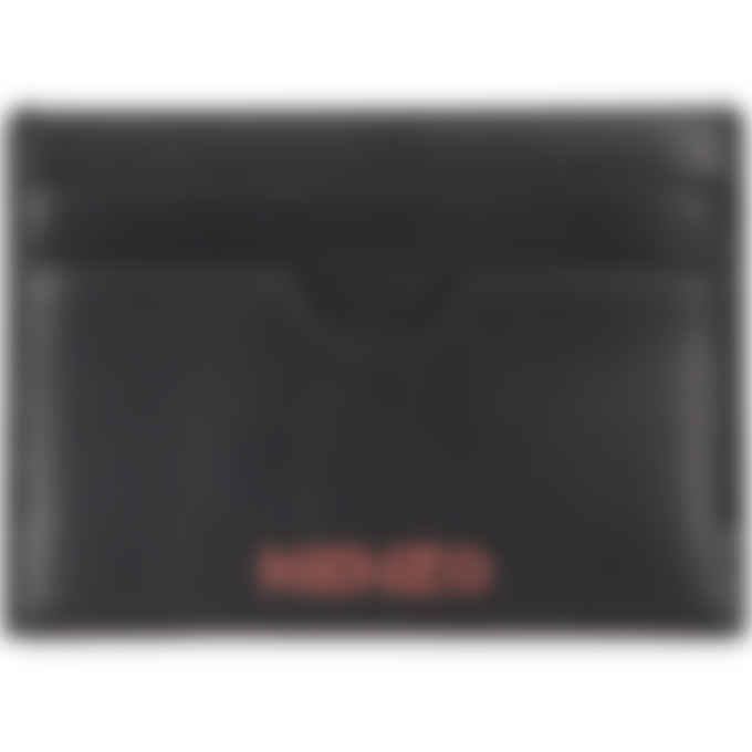Kenzo - Cadet Logo Leather Card Holder - Black