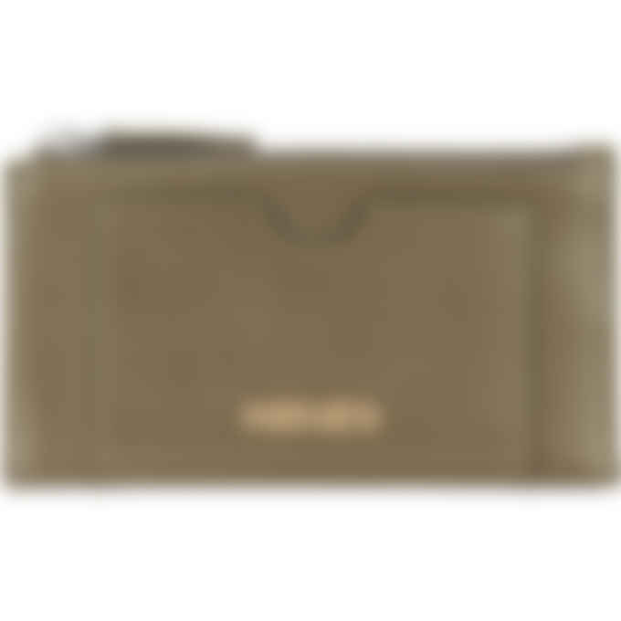 Kenzo - Cadet Logo Leather Zip Card Holder - Khaki