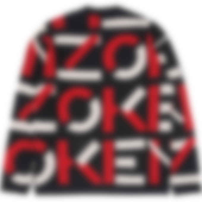 Kenzo - Kenzo Sport Monogram Knit Pullover Sweater - Medium Red