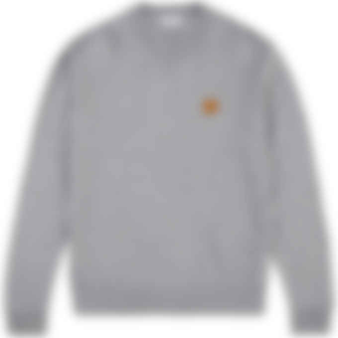 Kenzo - Tiger Crest Knit Pullover Sweater - Dove Grey