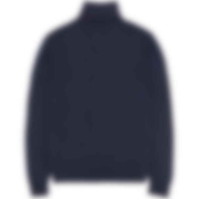 Kenzo - Tiger Crest Knit Turtleneck Pullover Sweater - Navy Blue
