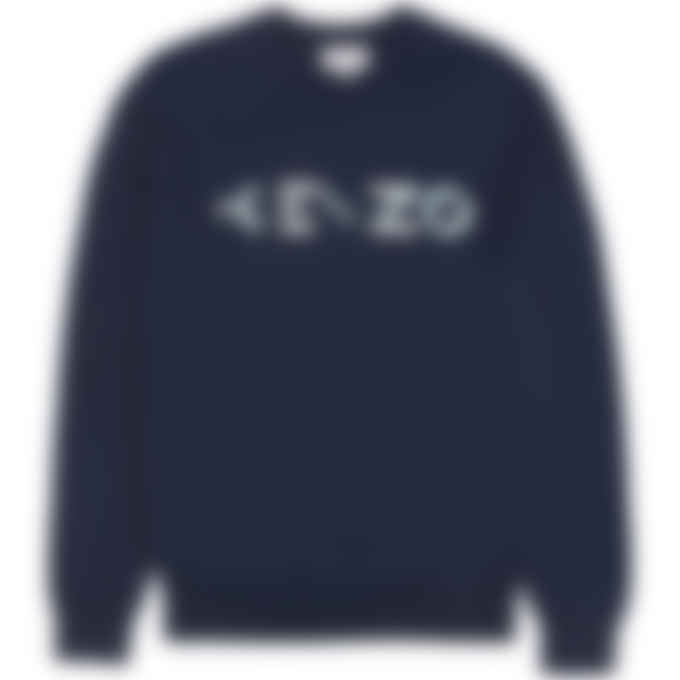 Kenzo - Multi Logo Knit Pullover Sweater - Navy Blue