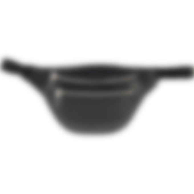 Kenzo - Logo Imprint Grained Leather Belt Bag - Black
