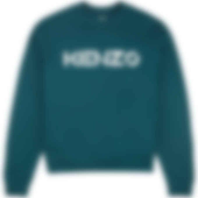 Kenzo - Logo Pullover Sweater - Duck Blue