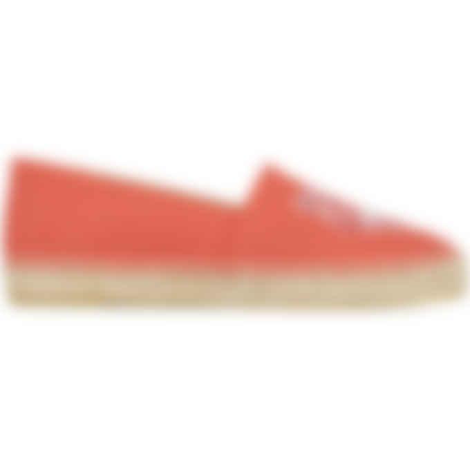 Kenzo - Classic Canvas Tiger Espadrilles - Red Orange