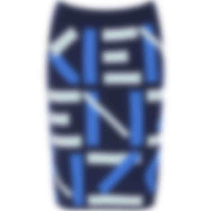 Kenzo - Kenzo Sport Jacquard Monogram Mini Skirt - Midnight Blue