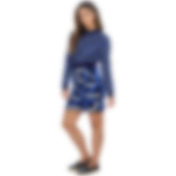 Kenzo - Kenzo Sport Monogram Logo Jacquard Pullover Sweater - Midnight Blue