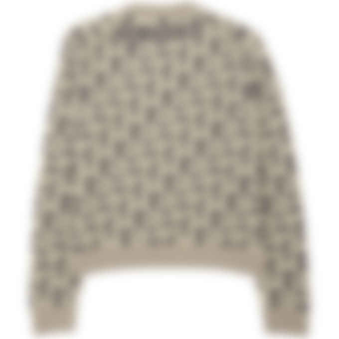 Kenzo - Kenzo Sport Monogram Logo Jacquard Pullover Sweater - Dove Grey