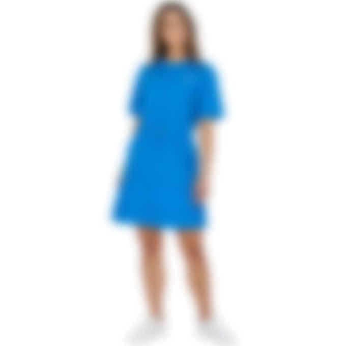Kenzo - Kenzo Sport 'Little X' Dual Material T-Shirt Dress - Cyan