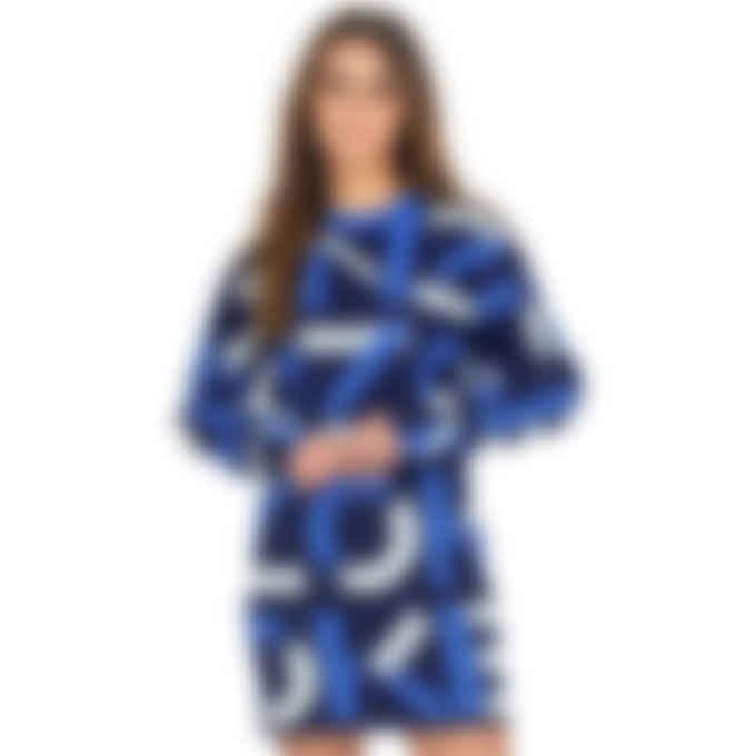 Kenzo - Kenzo Sport Monogram Jacquard Sweater Dress - Midnight Blue