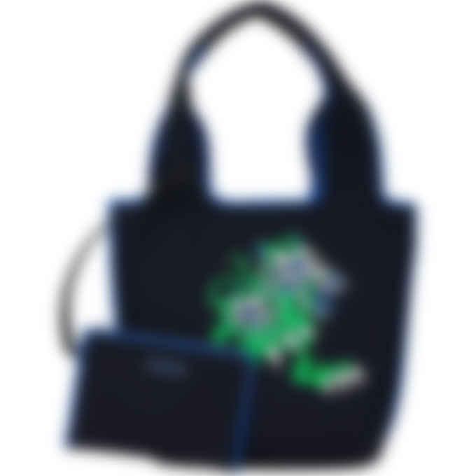 Kenzo - Kenzo X Kansaiyamamoto 'Three Tigers' Small Tote Bag - Navy Blue