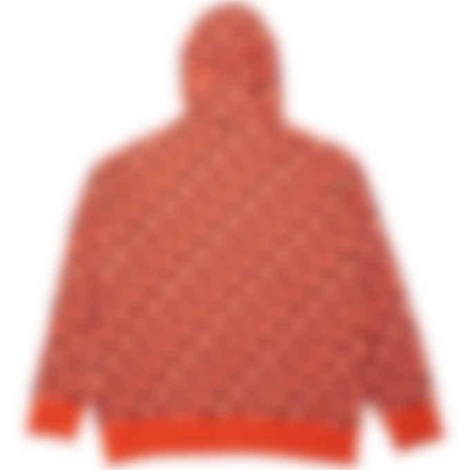 Kenzo - Kenzo Sport Monogram Jacquard Hoodie - Deep Orange