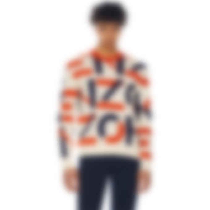 Kenzo - Kenzo Sport Monogram Jacquard Pullover Sweater - Blush