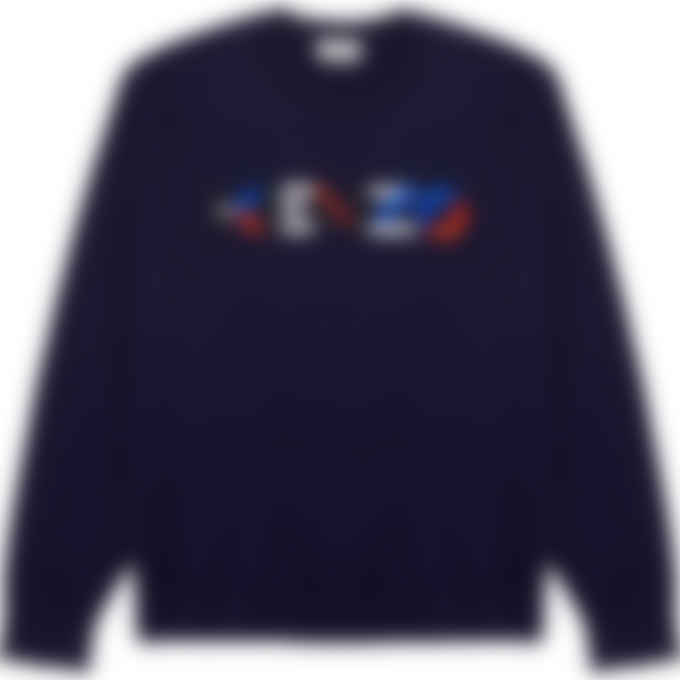 Kenzo - Multicolored Logo Knit Pullover Sweater - Navy Blue