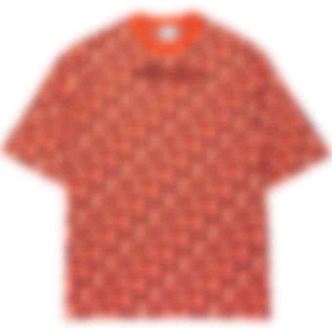 Kenzo - Kenzo Sport Short Sleeve Monogram Jacquard Pullover Sweater - Deep Orange