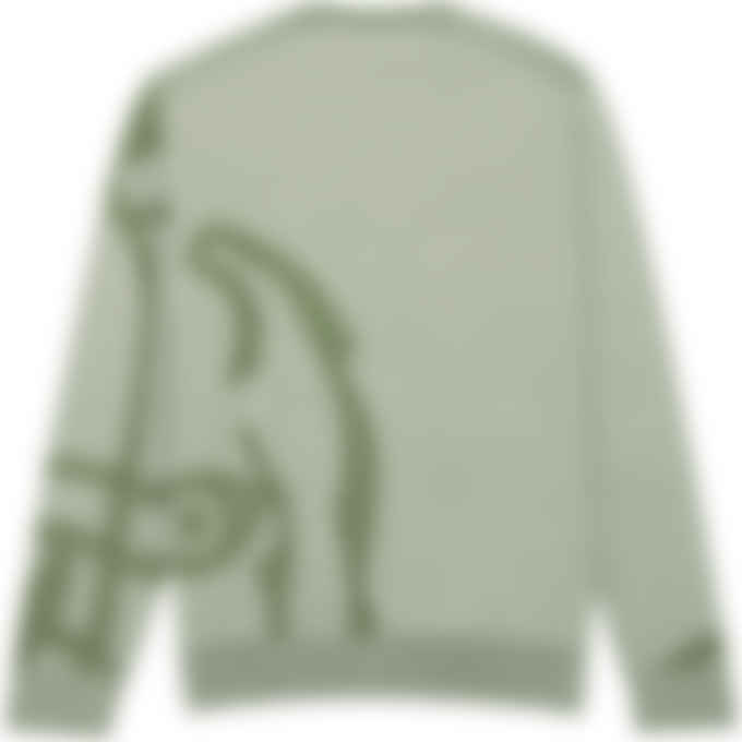 Kenzo - K-Tiger Knit Pullover Sweater - Sage Green