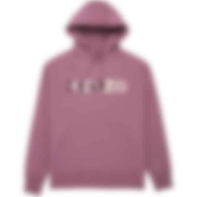 Kenzo - Multicolored Logo Oversize Hoodie - Blackcurrant