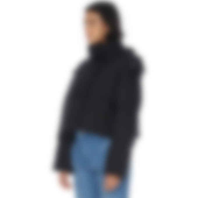 Kenzo - Tiger Crest Cropped Puffer Jacket - Black